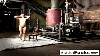 Sexy Sasha lives out her fantasies in the boiler room