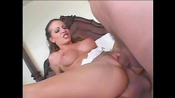 Young bruentte babe Vanessa Lane from encourage team is able to bend with ease during hard pounding with couple of horny guys