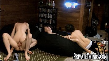 Twink have orgy in cabin