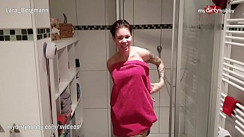 MyDirtyHobby - Hot college roommate caught in the shower she couldn't resist