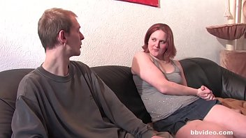 Mature German Amateur woman fucked by skinny dude