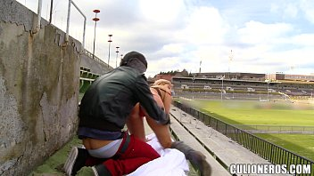 Girl pussy stadium - Sucking and fucking in a stadium