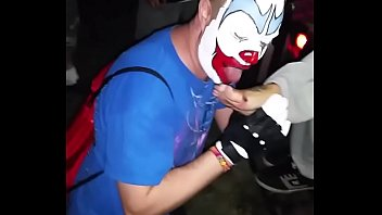 Clown Sucking On Toes