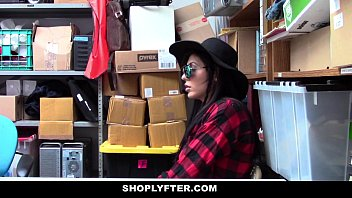 Shoplyfter - hipster teen (audrey royal) gets caught between two cocks 12 min