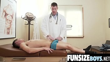 Small size boy's tight hole fucked by huge cock doctor during exam-FUNSIZEBOYS.NET