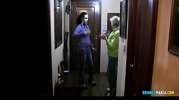 Maria and Her Friend: Lock the Supermarket Delivery Man. Fuck you bastard !!
