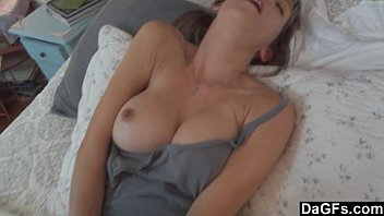 Busty wife excites her husband and sucks her cock | Video Make Love