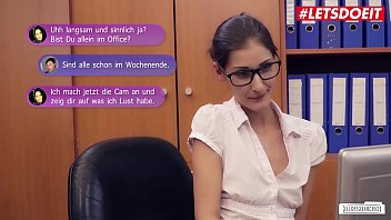 LETSDOEIT - German Hot Babe Coco Kiss Takes Huge Cock In Office Sex Session