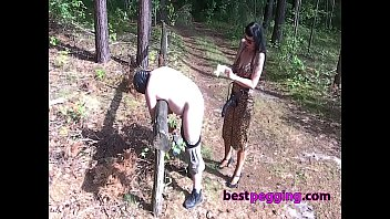 Hard Pegging Action In The Woods
