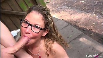 GERMAN TEEN WITH GLASSES GET DEEP ANAL FUCK OUTDOOR AT FIRST DATE