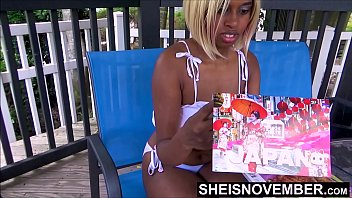 Bath light strip Im hanging out at the pool on my day off then get undressed, watch my freaky ass get naked, hot ebony msnovember pulls down panties and jiggles bubble butt cheeks on sheisnovember