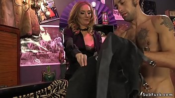 With head in box male anal banged femdom