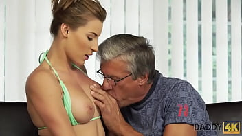 DADDY4K. Boy catches classy girlfriend cheating on him with step dad