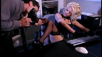 Video stocking sex Secretary fantasy sex in stockings and a garter