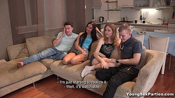 Young Sex Parties - Foursome Gang-Bang Fuck Isabel Stern Aziza Teen Porn