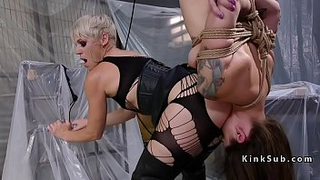 Lock me lick her ass tpe - Blonde dominatrix anal fucks her client