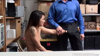 Submissive Teen Fucked by Pervert Guard - Teenrobbers.com