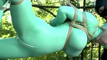 Latex catsuit inflatable bra Latex catsuit bondage fucked outside - myfuckingwebcam.com