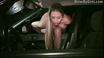 Girls sex dogs tube Pussy through a car window for anyone to fuck in a public sex dogging gang bang