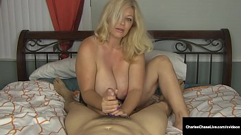Busty Mommy Charlee Chase Wacks Your Hard Cock Off!