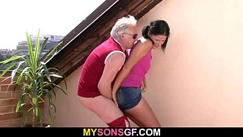 Horny Old Dad B angs Son's Girlfriend  Girlfriend