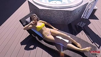 Hot Outdoor Jacuzzi Sex in POV 7 min