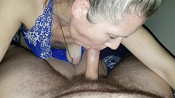 hanysy hot 43 year old milf is doing a blow job cum in mouth 6 min