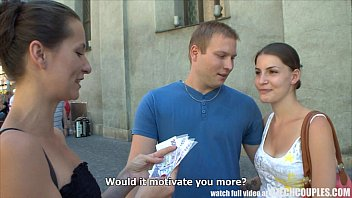 czech couples young couple takes money for public foursome min