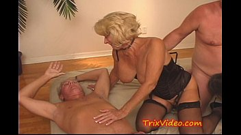 Grandmas got big tits Grandmas filthy family orgy
