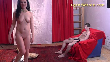 Job interview naked 18yo teen boy gets first striptease from kinky milf