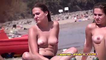 Amazing Hot Perfect tits Teens Topless At Beach HiddenSpy