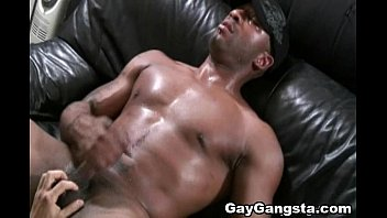Gay black gangster galleries - White gay on blindfold fucked by huge dark cock