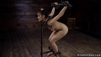Sub in doggy position and strappado