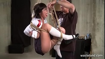 Sex bound swing - Sex swing proves a perfect device for dominant master to torment his submissive slut