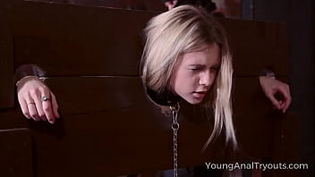 Young Anal Tryouts - Sweet Blonde Goes Down Into The Dungeon