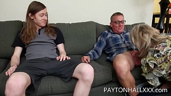 mature MILF takes both her son and her husband up her pussy at the same time DVP