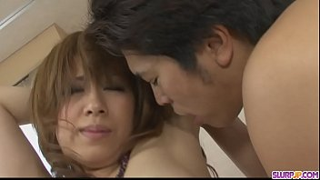 Tied up babe Yurina get her hairy pussy shovd hard - More at Slurpjp.com