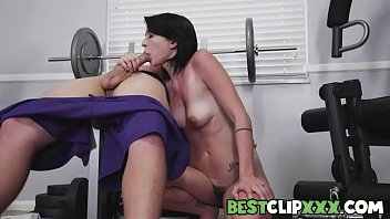 Riley Jean is toning her muscles and keeping her body healthy at the gym, but when Logan Lucky joins her, she'll learn what a real workout feels like. - FULL SCENE on http://BestClipXXX.com