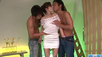 Yura Kasumi loves having two cocks in her holes  - More at Javhd.net