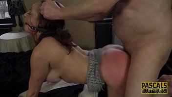 Spanked and whipped sub