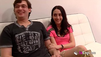 19yo petite teen enjoys Jordi's dick while her boyfriend watches