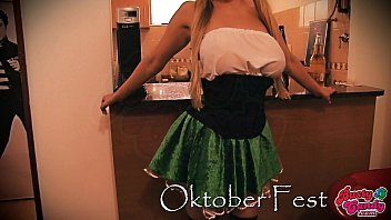 Busty Candy Celebrating Oktober Fest! Busty Big-Ass Blonde!