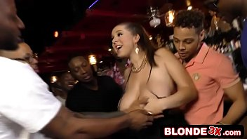 Bar maid fucked Busty bar maid ass-banged by a black gang alex chance