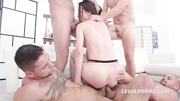 Monster of DAP, Nataly Gold 5on1 with Terrific Balls Deep DAP Action, Insane TP, Gapes and Swallow GIO1200