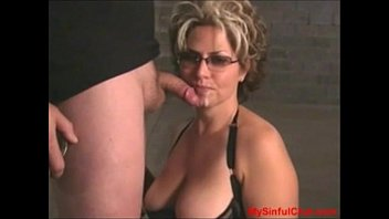 Mature woman blow job