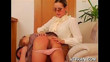 Female-dominant gets feet licked