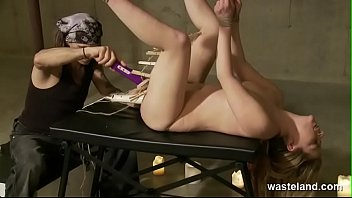 Sultry Blonde In Bondage Subjected To Intense Orgasms With Toys