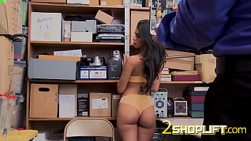 Sophia bends over desk of horny cop