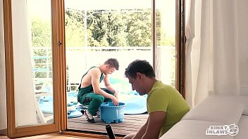 KINKY INLAWS - #Blanche Bradburry Czech Stepmother DP Action With Stepson And His Friend