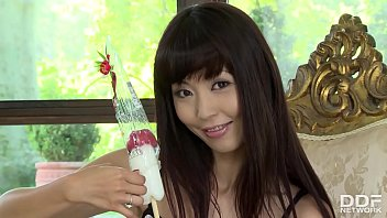 Asian Cosplay Pornstar Marica Hase Rubs Her Hairy Pussy With Penis Lollipop